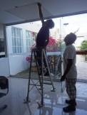 Ceiling repairs.