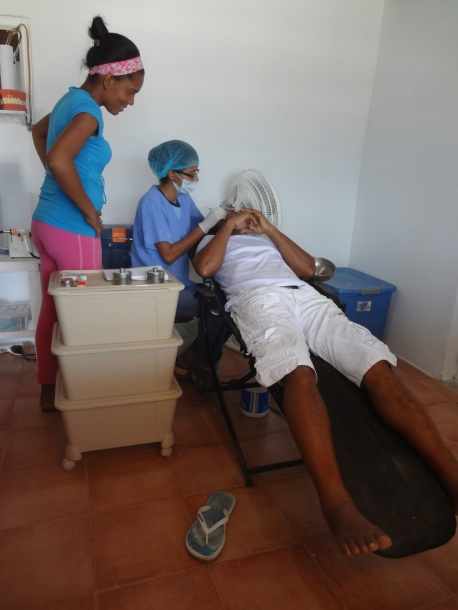Erika and Katrina provide dental care to approximately 16 to 20 people each week.