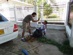 Moises, Jorge's little helper.