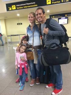 Gonzalez Family departing for Norway.
