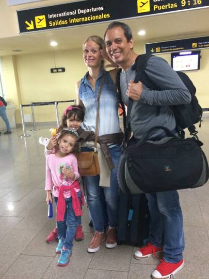 Gonzalez Family departing for Norway.