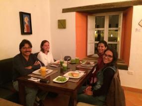 Celebrating Esther's birthday at a Peruvian restaurant.